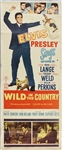 "Elvis Presley ""Wild In The Country"" Original Insert Movie Poster"