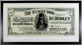 "Big Brother & The Holding Company Original Avalon Ballroom ""Dollar Bill"" Concert Lithograph Signed by Kelley & Mouse"