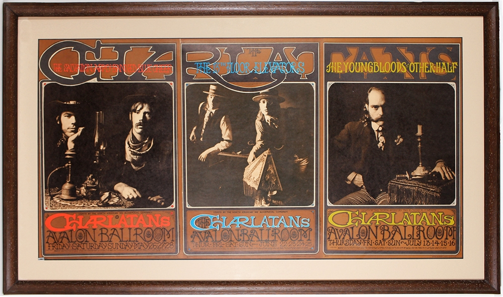 The Charlatans Original 1967 Avalon Ballroom Concert Posters (3)