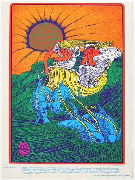 Canned Heat Original 1967 Denver Dog Concert Poster