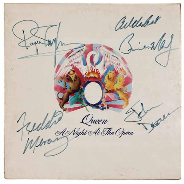 "Queen ""A Night at the Opera"" Full Band Signed Album"