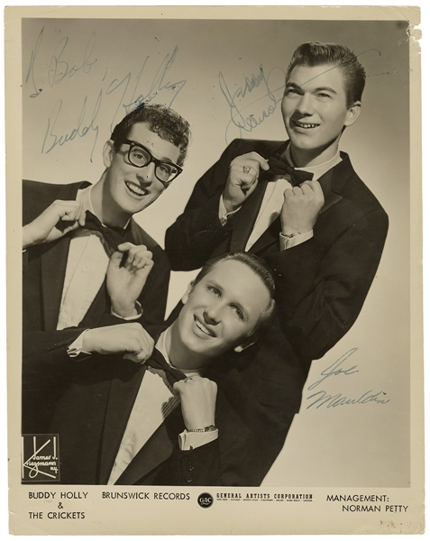 Buddy Holly & The Crickets Signed & Inscribed Original Vintage Promotional Photograph JSA LOA