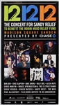 The Concert for Sandy Relief Original Poster Featuring Bruce Springsteen, Eric Clapton, Paul McCartney, Roger Waters and More