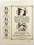Bob Dylan and Willie Nelson Original Uncut Concert Poster and Handbill Sheet Signed by Artist David Dean