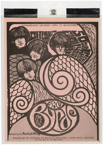 The Byrds Original 1967 Concert Handbill