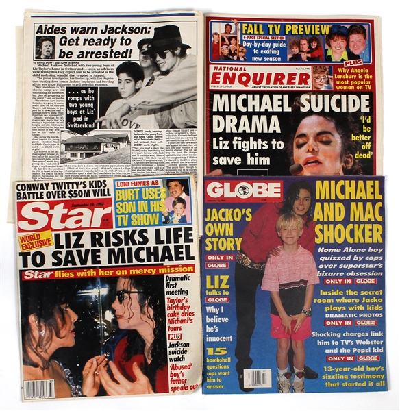 Michael Jackson Personally Owned Collection of Magazines Featuring Himself (4)