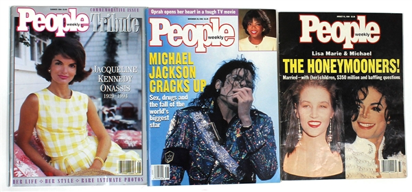 Michael Jackson Personally Owned People Magazines Featuring Michael Jackson and Jackie Kennedy (3)