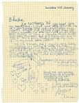 Amy Winehouse Handwritten & Signed Love Letter to Husband Blake Fielder-Civil JSA LOA