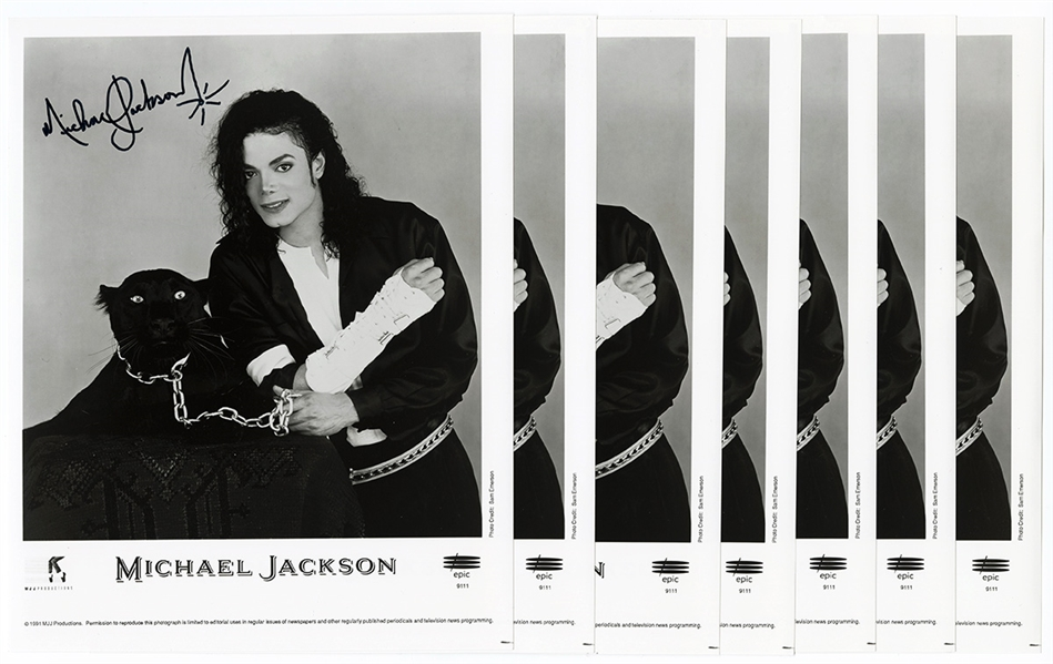 Michael Jackson Personally Owned Original MJJ Productions Photographs with Autopen Signatures