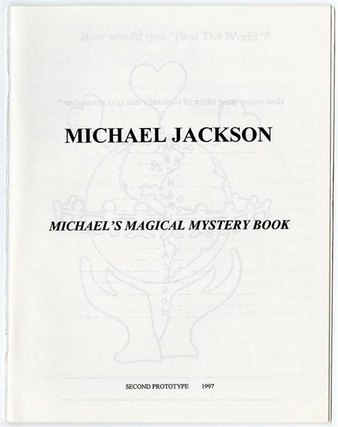 "Michael Jackson Personally Owned Prototype For His ""Michaels Magical Mystery Book"" Childrens Book"