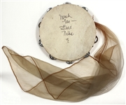 Stevie Nicks Stage Used and Signed Tambourine with Scarf JSA Authentication