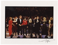 Bill Clinton Original Neal Preston Signed 1993 Inauguration Gala Photograph Featuring The Clintons, The Gores, Michael Jackson and Fleetwood Mac