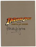 "Harrison Ford Signed ""Indiana Jones and the Temple of Doom"" Original Program JSA Authenticated"