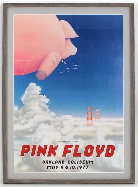 Pink Floyd Original 1977 Concert Poster Signed by the Artist Randy Tuten