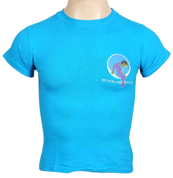 "Michael Jackson Personally Owned ""Neverland Valley"" Aqua Blue Childrens T-Shirt"