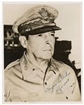 General Douglas MacArthur Signed and Inscribed U.S. Air Force Stamped Photograph JSA LOA