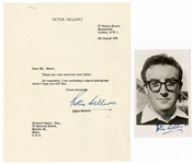 Peter Sellers Signed Photo Postcard and Letter JSA Authentication