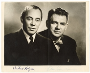 Richard Rodgers and Oscar Hammerstein Signed Original Stamped Photograph JSA LOA