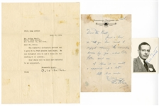 Cole Porter and Fred Astaire Signed Letters and Photograph JSA LOAs