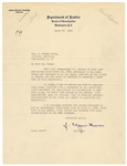 J. Edgar Hoover Signed Dept. of Justice and F.B.I. Letters JSA Authentication (3)