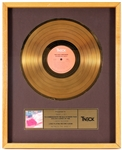 "Isley Brothers ""Between The Sheets"" Original TNECK Records In-House Gold Record Album Award Presented to Frank DiLeo"