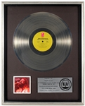 "Teddy Pendergrass ""Teddy Live! Coast to Coast"" Original RIAA Platinum Record Album Award Presented to Frank DiLeo"