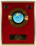 "Michael Jackson ""Rock With You"" Original CBS Records Australia In-House Gold Single Record Award Presented to Manager Frank DiLeo"