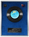 "Michael Jackson ""Dont Stop Til You Get Enough"" Original CBS Records Australia In-House Platinum Single Record Award Presented to Manager Frank DiLeo"