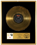 "Saga ""Worlds Apart"" Original RIAA Gold Record Album Award Presented to Frank DiLeo"
