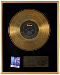 Aldo Nova Original RIAA Gold Record Album Award Presented to Frank DiLeo