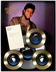 "Michael Jackson ""Thriller"" Original Platinum and Gold Record Display Gifted to Manager Frank DiLeo with Michaels Initials Signed Thank You Letter to Frank"