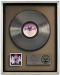 "KISS ""Love Gun"" Original RIAA Platinum Record Album Award Presented to Cecil Holmes"