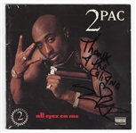 "Tupac  Shakur Signed & Inscribed ""All Eyez On Me"" C.D. Insert Booklet"