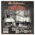 "Mobb Deep Signed ""Amerikaz Nightmare"" C.D. Insert Booklet"