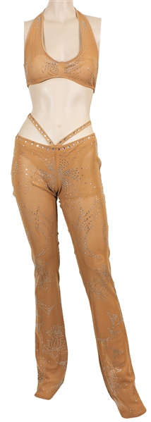 "Britney Spears ""Oops….I Did It Again"" Tour Stage Worn Rhinestone Nude Costume"
