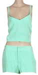"Britney Spears ""Jane The Virgin"" Screen Worn ""Toxic"" Custom Lime Green Top and Shorts Outfit"