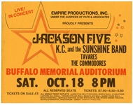 Jackson Five/K.C. & The Sunshine Band Circa Mid-1970s Concert Handbill