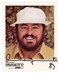 Luciano Pavarotti Signed and Inscribed Photograph JSA Authentication