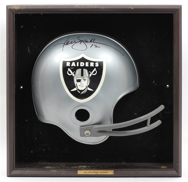 Ken Stabler Signed Helmet Display JSA Guarantee