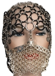 "Madonna ""Arabian Queen"" Custom Face Mask and Head Gear Worn for Her ""Messiah"" European Promo C.D. Single and in Harpers Bazaar Magazine"