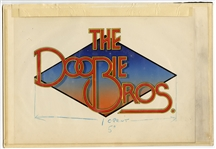 Doobie Brothers Original Larry Vigon Album Artwork from his Personal Collection of Larry Vigon