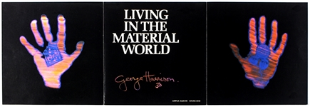 "George Harrison Original ""Living In the Material World"" Album Promotion Poster"