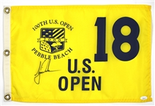 Tiger Woods First U.S. Open Championship Win Signed 18th Hole Pin Flag JSA LOA
