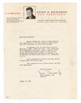 John F. Kennedy For President Letterhead Signed by Frank Thompson, Jr.