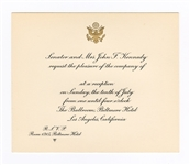 John F. Kennedy Original 1960 Biltmore Hotel Campaign Reception Invitation