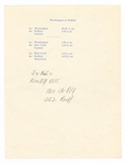 John F. Kennedy Original 1960 Presidential Campaign Flight Schedule