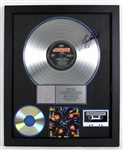 "KISS ""Crazy Nights"" Original RIAA Platinum Album Award Presented to Eric Carr and Signed by Bruce Kulick"