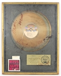 "KISS Signed ""KISS Alive II"" Original RIAA Gold Record Album Award"