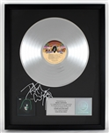 "Peter Criss Signed ""KISS - Peter Criss"" Original RIAA Platinum Album Award"