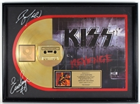 "KISS ""Revenge"" Gold Album, Cassette and C.D. Award Signed by Eric Singer and Bruce Kulick"